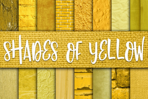 Print on Demand: Shades of Yellow Digital Paper Textures Graphic Textures By oldmarketdesigns