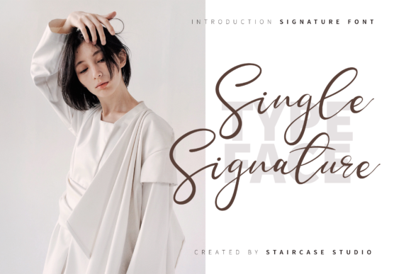 Print on Demand: Single Signature Script & Handwritten Font By staircasestudio20