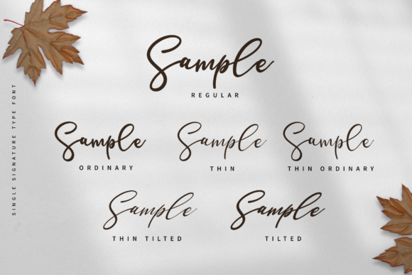 Print on Demand: Single Signature Script & Handwritten Font By staircasestudio20 - Image 2