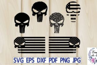Skull American Flag Graphic Crafts By Treasures In June