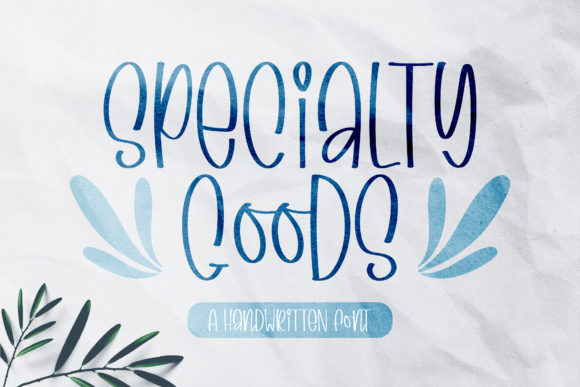 Print on Demand: Specialty Goods Script & Handwritten Font By BitongType