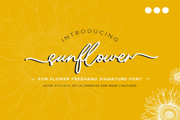 Print on Demand: Sunflower Script & Handwritten Font By Vunira
