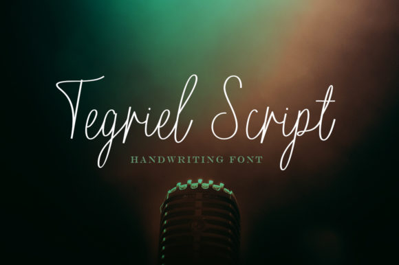 Print on Demand: Tegriel Script Script & Handwritten Font By Solidtype