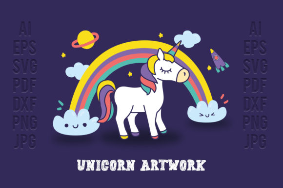 Print on Demand: Unicorn Graphic Illustrations By OWPictures