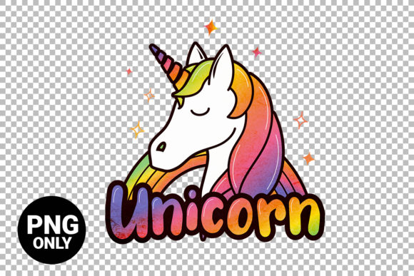 Print on Demand: Unicorn Sublimation Graphic Print Templates By 99 Siam Vector