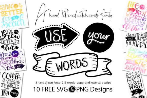 Print on Demand: Use Your Words Script & Handwritten Font By joanne.hewitt