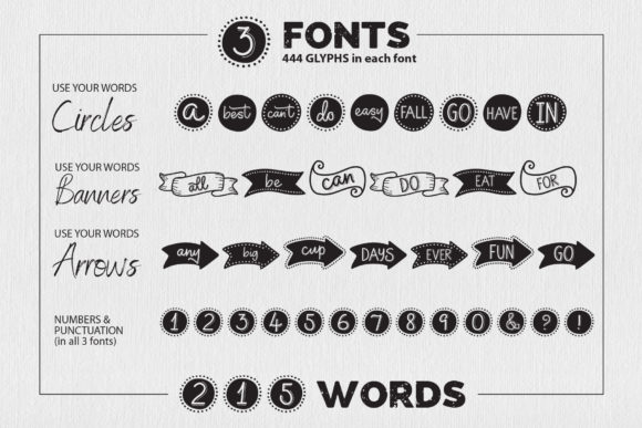 Use Your Words Font Font