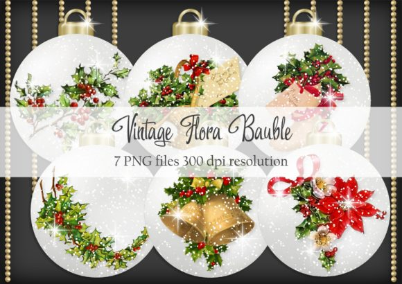 Print on Demand: Vintage Flora Bauble Graphic Objects By Simply Paper Craft