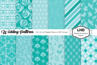 Wedding Patterns - Digital Paper Pack Graphic Patterns By LeskaHamatyDesign