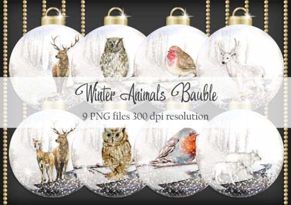 Print on Demand: Winter Animals Bauble Graphic Objects By Simply Paper Craft