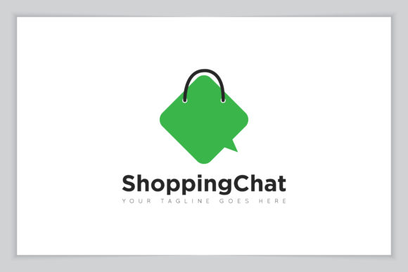 Print on Demand: Store Chat Logo Vector Icon Illustration Graphic Icons By amindachoirunanaz