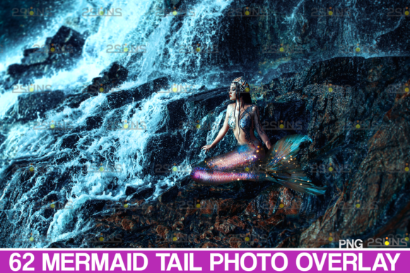 62 Mermaid Tail Overlay Photoshop Graphic Actions & Presets By 2SUNS