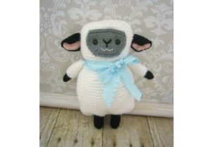 Amigurumi Knit Lamb Pattern Grafik Stricken von Amy Gaines Amigurumi Patterns