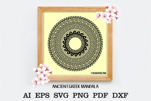 Print on Demand: Ancient Greek Mandala Graphic Crafts By FounDream