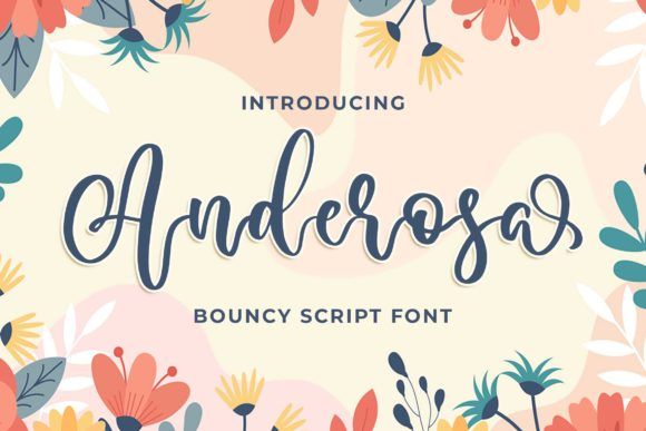 Print on Demand: Anderosa Script & Handwritten Font By Blankids Studio