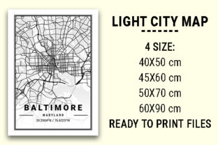 Print on Demand: Baltimore Light City Map Graphic Photos By tienstencil