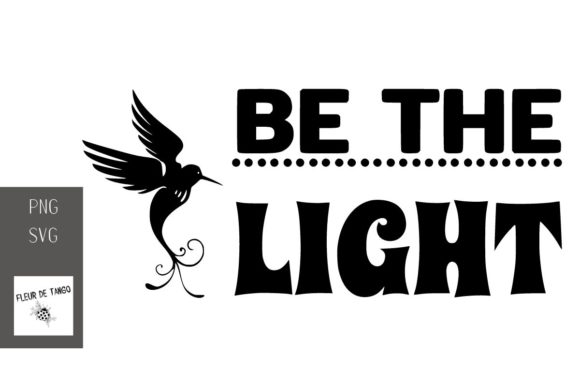 Print on Demand: Be the Light Graphic Print Templates By Fleur de Tango