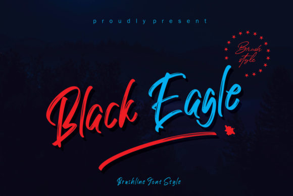 Print on Demand: Black Eagle Script & Handwritten Font By creativework69