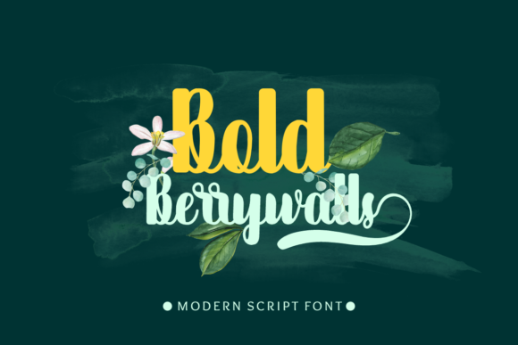Print on Demand: Bold Berrywalls Manuscrita Fuente Por Prast Art