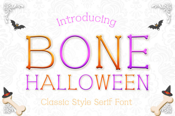 Print on Demand: Bone Halloween Serif Font By numnim