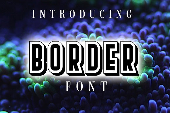 Print on Demand: Border Display Schriftarten von vladimirnikolic