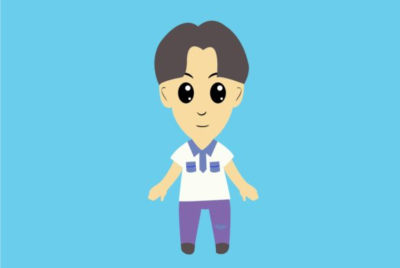 Boy Chibi Character Vector 6 Graphic Illustrations By harunikaart