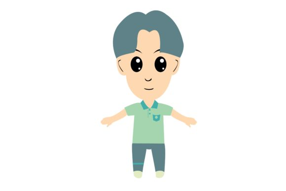 Boy Chibi Character Vector 7 Graphic Illustrations By harunikaart