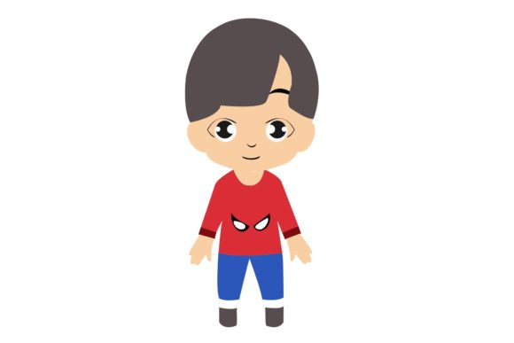 Boy Chibi Character Vector 8 Graphic Illustrations By harunikaart