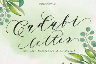 Print on Demand: Cadafi Letter Script & Handwritten Font By mdrdesigns99