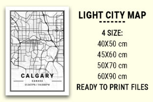 Print on Demand: Calgary Light City Map Graphic Photos By tienstencil