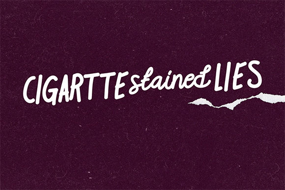 Print on Demand: Cigarette Stained Lies Script & Handwritten Font By brnk1314