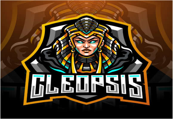 Cleopsis Esport Mascot Logo Design Graphic Illustrations By visink.art