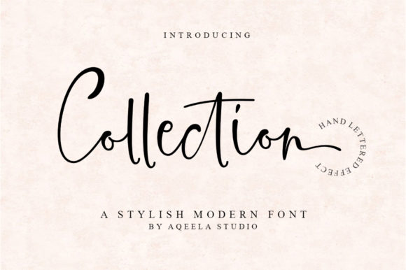 Print on Demand: Collection Script & Handwritten Font By Aqeela Studio