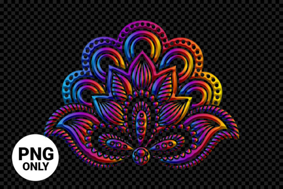 Print on Demand: Colorful Floral Mandala Graphic Print Templates By 99 Siam Vector
