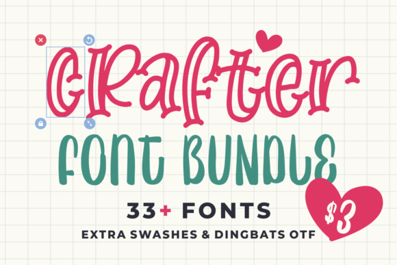 Print on Demand: Crafter Font Bundle  von Azetype