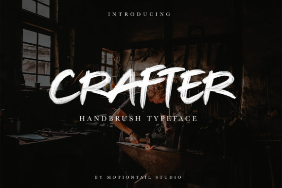 Print on Demand: Crafter Display Font By motiontailstudio