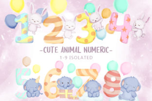 Cute Animal with Numeric Graphic Illustrations By alolieli