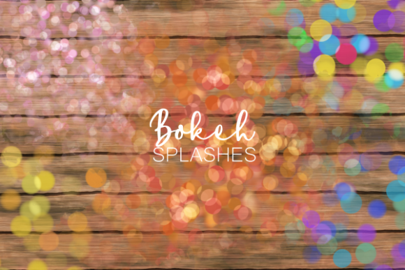 Decorative Bokeh Light Confetti Splashes Graphic