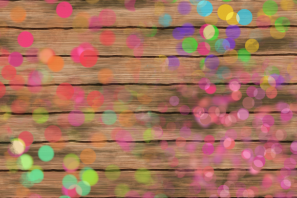 Decorative Bokeh Light Confetti Splashes Graphic Item