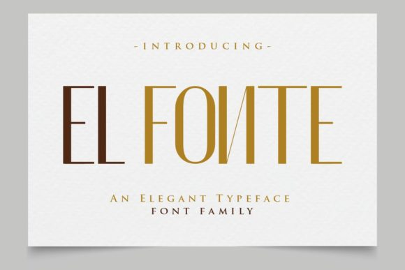 Print on Demand: El Fonte Sans Serif Font By Gilar Studio