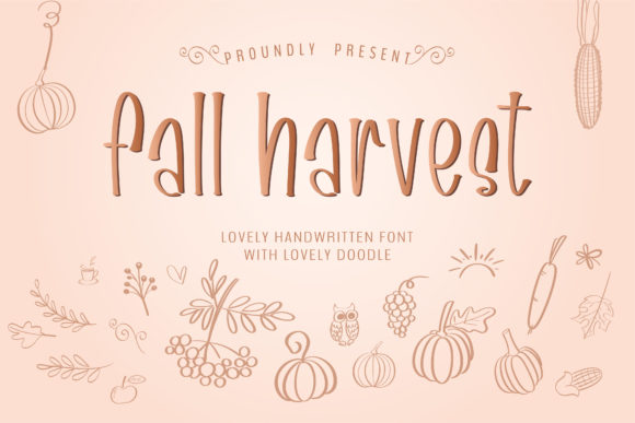 Print on Demand: Fall Harvest Manuscrita Fuente Por BitongType