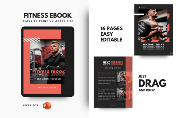 Print on Demand: Fitness Ebook Powerpoint Template Graphic Presentation Templates By rivatxfz