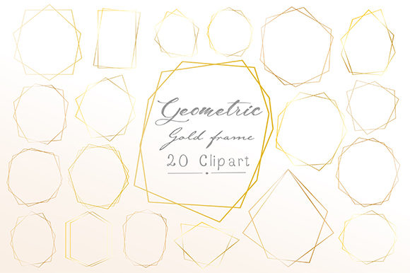 Geometric Frame, Geometric Clipart Graphic Illustrations By OneyWhyStudio