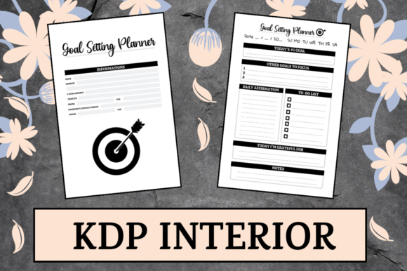 Print on Demand: Goal Setting Planner   KDP Interior Graphic KDP Interiors By Hungry Puppy Studio