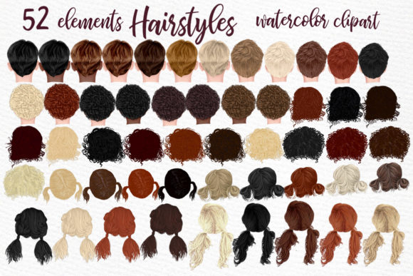 Hairstyles Clipart Kids Hairstyles Graphic