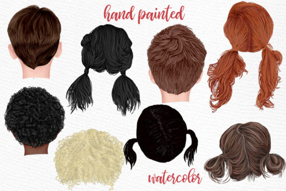Hairstyles Clipart Kids Hairstyles Graphic Download