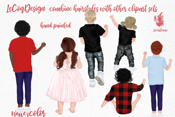 Hairstyles Clipart Kids Hairstyles Graphic Item