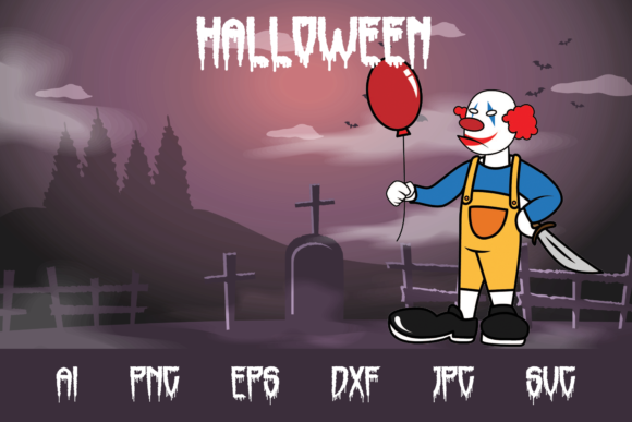 Halloween Clown Graphic Crafts By custodestudio