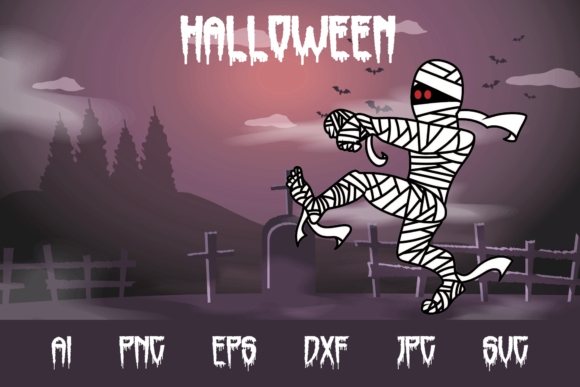 Halloween Mummy Graphic Crafts By custodestudio