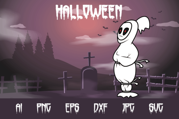 Halloween Pocong Graphic Crafts By custodestudio